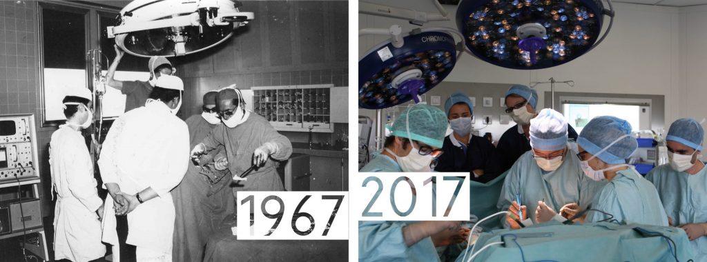 Evolution chirurgie de 1967 à 2017