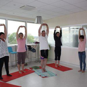 Atelier yoga au CGFL
