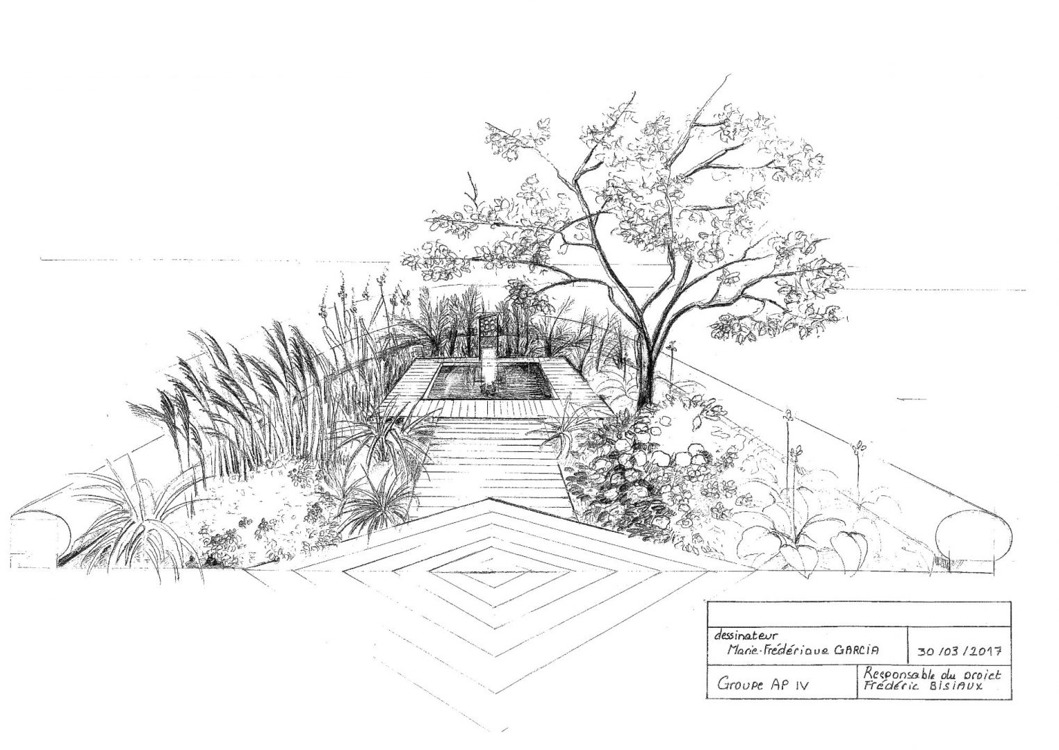 Projet d'aménagement paysager