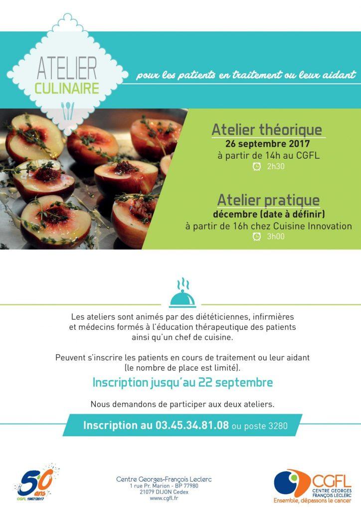 Atelier culinaire CGFL