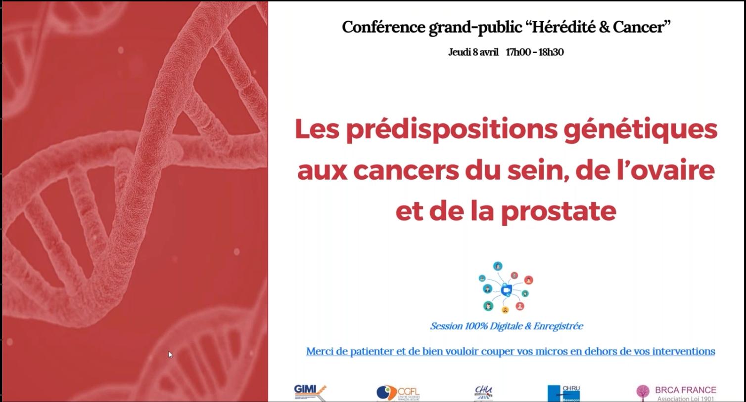 Conférence-hérédité et cancer